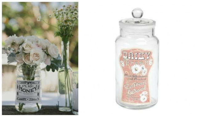 wedding flowers in jars