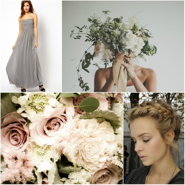 grey wedding moodboard