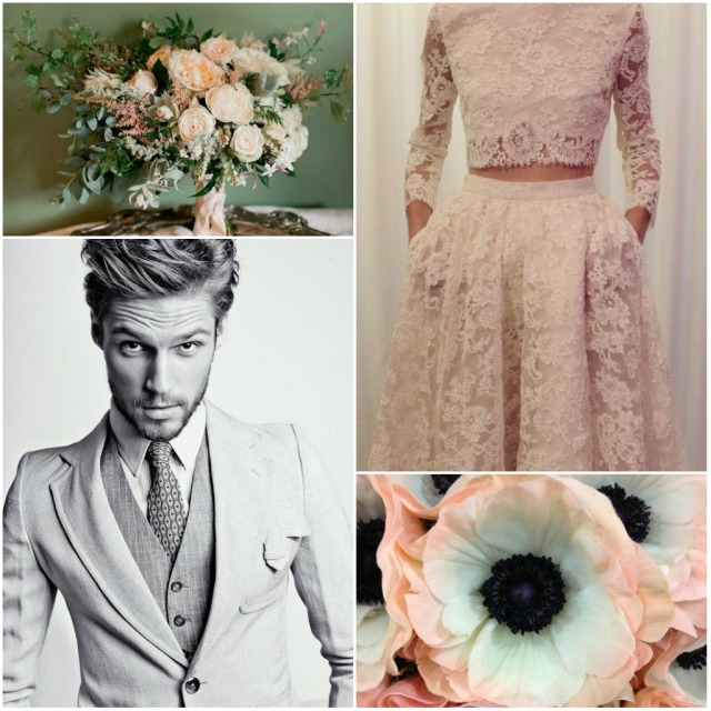 nude wedding moodboard