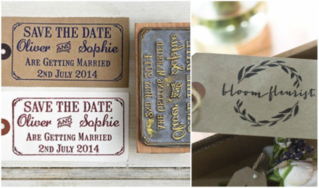 Custom rubber stamp wedding