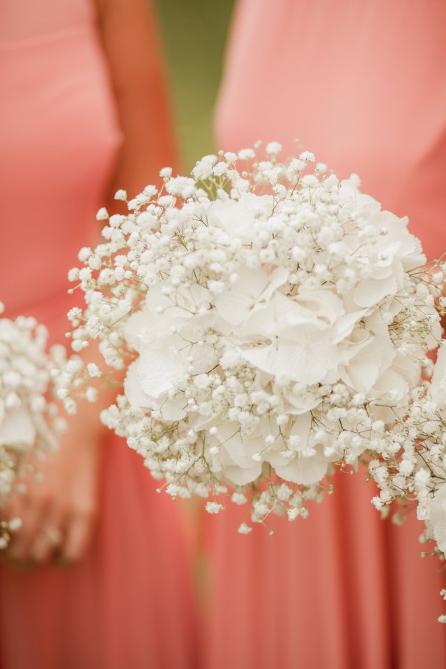 Gypsophila and hydrangea bouquet